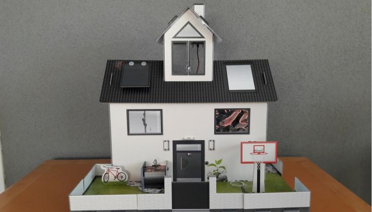 Elektro huis wereld van mama - Doos huis wereld ...